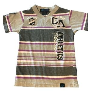 Other - Boys Athletic Printed Stripped Shirt Size 4(S)